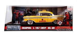 VEHICULO METALS MARVEL TAXI CHEVY DEADPOOL 1:24 COD 30290
