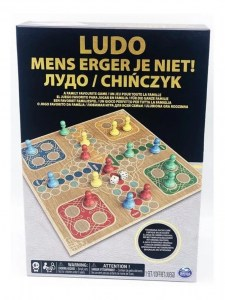 JUEGO LUDO DELUXE TABLERO SIMIL MADERA SPIN MASTER COD 98368