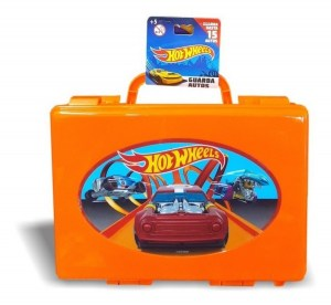 VALIJA HOT WHEELS PORTA AUTOS X 15 COD HW0001